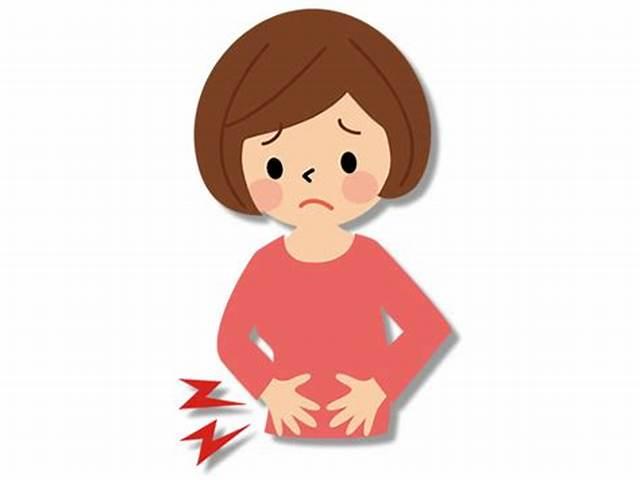 腹痛に悩む主婦